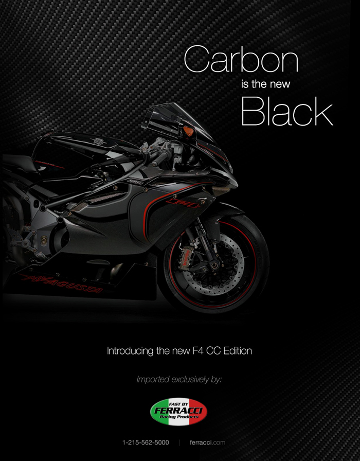 F4 Carbon Edition Ad Design