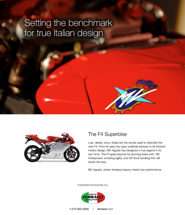 F4 Superbike Introduction Ad Design