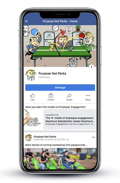 Facebook mobile design page for PnP